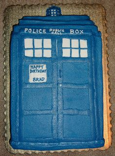 TARDIS Cake. My mom is making this for my birthday. She's the best. <3