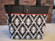 Custom Black and Quilted Tote Bag by MavysTotes on Etsy, $50.00