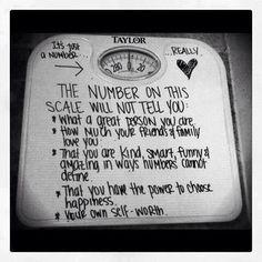 Hvis tallet på vægten er blevet et dagligt mål for dit værd, så er det på tide at pakke vægten væk!