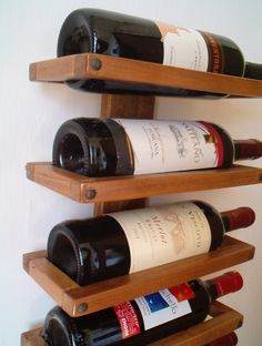 This is a gorgeous wall rack for six wine bottles, you can hang it on in your kitchen, put it on the table or on the floor. It is made in Poplar trembling wood. This item is in assembling kit,...