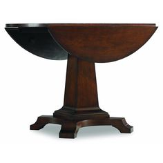 Hooker Furniture Abbott Place Round Drop Leaf Pad Dining Table