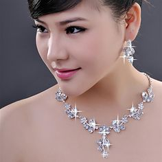 Alloy with Unique Crystal Jewelry Sets More Colors including Earrings,Necklace - GBP £ 6.60