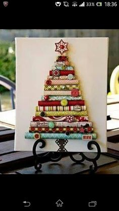 rolled paper tree and all the xmas tree crafts you'll ever need Handmade Christmas Tree, Noel Christmas, Little Christmas, Christmas Projects, Winter Christmas, All Things Christmas, Holiday Crafts, Holiday Fun, Christmas Ornaments