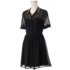 LC Lauren Conrad Embellished Shirtdress at Kohl's $60.00 on sale for $30.00