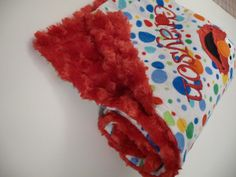Minky Blanket Elmo Inspired Personalized shown by made4yougifts, $41.95