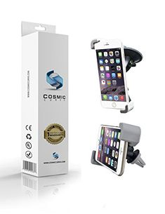 Mobile Phone Car Mount COSMIC CURVE 2in1 Multifunctional 360 Degrees Smartphone Windshield and Air Vent Car Mount Holder  100 Money Back Guarantee  Universal with Fast SwiftSnap Technology for Cell Phones Mini Tablets Apple iPhone 6 6 Plus iPhone 5S 5C 5 4S Samsung Galaxy S6 S5 S4 S3 Nexus 5 4 HTC M9 and More Retail Packaging  Limited Time and Supply Only  Black >>> See this great product. Note: It's an affiliate link to Amazon.