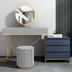Vanity Set Dressing Table With Mirror And Stool-outlets-UNIQ habitat Dressing Table With Mirror And Stool, Bedroom Dressing Table, Dressing Table Design, Dressing Tables, Small Room Bedroom, Home Decor Bedroom, Master Bedroom Makeover, Luxury Home Decor, Home Office Design