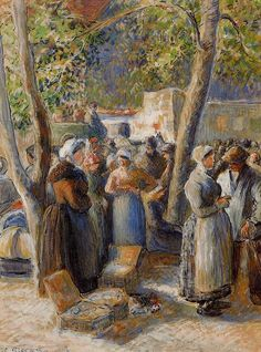 The Market in Gisors by Camille Pissarro, 1887 http://missfolly.tumblr.com/tagged/paintings/page/61