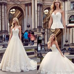 Cheap bridal gown, Buy Quality elegant bridal gown directly from China gowns bridal Suppliers: New A-Line Sweetheart Organza Sleeveless Off the Shoulder Lace Up Wedding Dresses Appliques Lace Pleat Elegant Bridal Gowns 2016 Wedding Dresses, Cheap Wedding Dress, Wedding Gowns, 2017 Bridal, Bridal Gowns, Wedding Things, Wedding Stuff, Wedding Ideas, Applique Dress