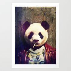 Panda Durden Art Print by Rubbishmonkey - $16.00