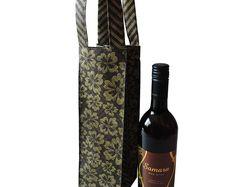 Wine Bag- Reusable wine bag- Hosting wine gift-Bottle Holder-Drink Holder-Bottle Bag-Wine bottle bag