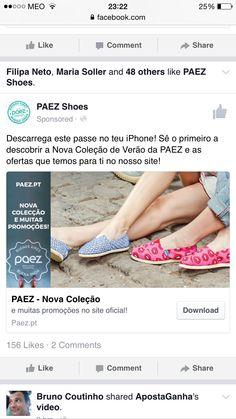 A Paez tem uma nova loja e uma nova promoção! Descubram os anúncios no Facebook e façam download dos passes para a poderem desfrutar!