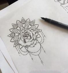 The top! tattoos tattoos, rose tattoos и mandala tattoo Simple Mandala Tattoo, Mandala Tattoos For Women, Mandala Wrist Tattoo, Rib Tattoos For Women, Mandala Tattoo Design, Tattoo Designs, Foot Tattoos, Body Art Tattoos, Rose Rib Tattoos