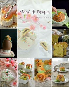 Menù di Pasqua dall'antipasto al dolce Cannoli, Buckwheat, Dolce, Holidays And Events, Menu, Antipasto, Buffet, Food And Drink, Favorite Recipes