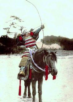 z- Okinawa Soba - Mounted Samurai w Bow & Arrow