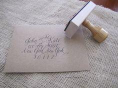 Custom calligraphy stamp...yes please!