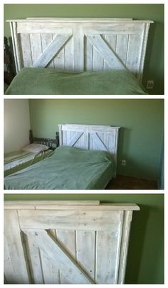 Cabezal de cama hecho con pallets