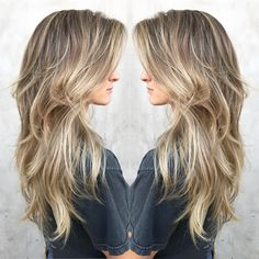51 Beautiful Long Layered Haircuts - hair styles for short hair Blonde Layered Hair, Brown Blonde Hair, Long Layered Hair Wavy, Long Textured Hair, Thin Hair Haircuts, Long Blonde Haircuts, Long Haircuts For Women, Layered Haircuts For Long Hair, Long Shaggy Haircuts
