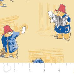 Camelot Cottons House Designer - Paddington Bear - Toile in Chamomile