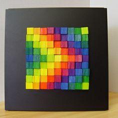 Playart: Math & Art with magnetic wooden cubes. Create playful Art