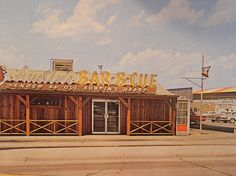 Austin BBQ Postcard Circa Late 50's Early 60's. Hampton and Illinois Oak Cliff (Dallas). Gone now :(