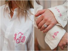 Monogrammed shirts for you and your Maids' getting ready outfits.