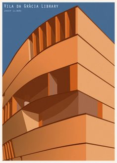 André Chiote Reimagines Libraries From Around the World as Minimalist Illustrations,© André Chiote