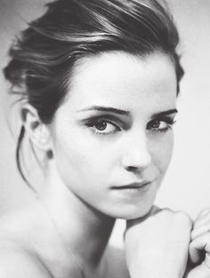 Emma Watson celebrity actress face portrait photo #headshot T: EmWatson