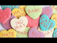 Anti-Valentine conversation heart cookies  - Detailed Video tutorial - YouTube.com/montrealconfections