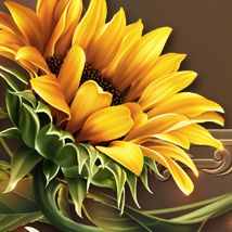 Moonbeam's Bright Yellow Sunflowers 2D Merchant Resources moonbeam1212 Sunflower Drawing, Sunflower Art, Yellow Sunflower, Sunflower Paintings, Sunflowers And Roses, Daisies, Sunflower Pictures, Music Drawings, Sunflower Wallpaper