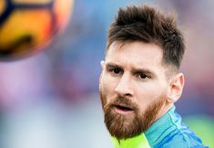 Lionel Andres Messi of FC Barcelona prior to the La Liga match between Atletico de Madrid and FC Barcelona at the Santiago Bernabeu Stadium on 26 February 2017 in Madrid, Spain. God Of Football, Football Stuff, Football Players, Leonel Messi, Lionel Messi Haircut, Messi Beard, Antonella Roccuzzo, Argentina National Team, Club World Cup