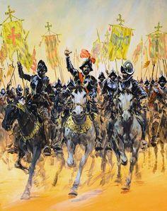 """La Pintura y la Guerra """"Conquistadors at the Gallop"""" Graham Coton"""