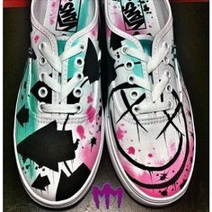 OHHHMYGODDDDD vans blink182 | Teen shoes | Pinterest ❤ liked on Polyvore featuring shoes