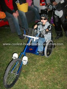 Halloween 2011 Coolest Homemade Costume Contest Runner-Up.  Wheelchair Trike costume submitted by Julianne from Harrison, Tennessee...