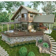 best and stunning modern home designs that can inspire you Modern house design . Since modern homes started trending, home designers have been fighting to create the latest models of modern homes. HOME DESIGN Minimalist House Design, Modern House Design, Bamboo House, Log Cabin Homes, Forest House, Style At Home, Home Decor Styles, Home Fashion, Architecture Design