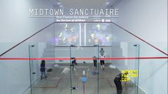 Moment Factory created an interactive squash game for the 2011 Midtown Sporting…