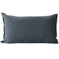 Slate Chambray Linen & Cotton Standard Pillowcase | Temple & Webster