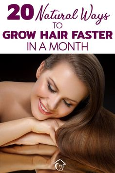 These genius tips to grow hair faster are all healthy, natural and actually work. Hair can take a long time to grow, but there are things that really speed it up. Grow Natural Hair Faster, How To Grow Your Hair Faster, Natural Hair Care, Natural Hair Styles, Natural Tan, Natural Living, Natural Health, Ways To Grow Hair, Hair Growing Tips