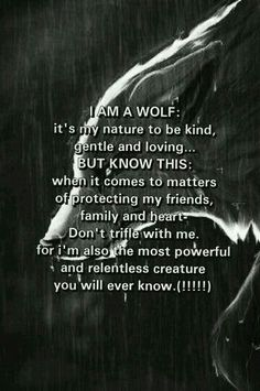 Many wolf hunters think wolves are these wretched, dangerous beasts. Wolves are usually weary of people and actually fear mankind. When they attack it is to protect themselves or their family Great Quotes, Quotes To Live By, Me Quotes, Motivational Quotes, Inspirational Quotes, Sister Quotes, Funny Quotes, The Words, Wolf Love