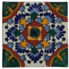 "Hand Painted Decorative Tiles Delectable 12 Hand Painted Talavera Mexican Tiles 4""x4""  Wallpaper And Inspiration Design"