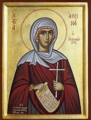 Orthodox icon of Saint Athena.
