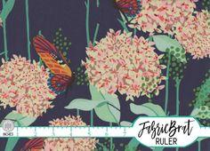 Blue and Gold Leaf Vine Botanical Foliage Metallic Gold Cotton Fabric t1//25
