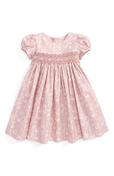 Baby Girl White Pink Gingham Flower Embroidered Dress /& Bloomers Set 0-3-6-9mth
