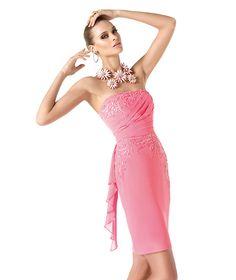 Pronovias presents the Reika cocktail dress from the Cocktail 2014 collection. | Pronovias