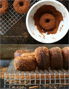 Baked Gingerbread Cake Donuts (Grain/Gluten/Dairy Free) - donut maker // breakfast or brunch