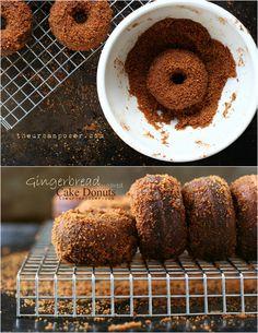 Sugared Gingerbread Cake Donuts (Grain/Gluten/Dairy Free)