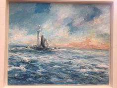 'The Fastnet' Oil on canvas. 20 x 16 inches Oil On Canvas, Painting, Art, Canvas
