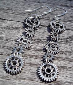 Steam Punk Dangle Earrings