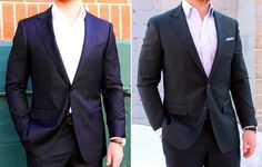 How to Buy your First Suit  Know WhyYoure Buying a Suit  Are you getting married? Are you going to start interviewing for a job? Do you just like the way a suitlooks? Picture yourself in the circumstance that will require you to be in a suit. What suit fits the situation? A suit is a tool. And knowing what tool is used for what job can go a long way.  Choose Your Color: Solid Navy or Solid Grey in all-season Wool  Notice you get to choose a color butnot a fabric. For your first suit youll…