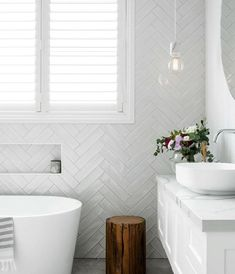 2019 Home Design Trends by Rachel Bernhardt, Portland Realtor White Bathroom Tiles, Bathroom Tile Designs, Laundry In Bathroom, White Tiles, Bathroom Interior Design, Small Bathroom, Bathroom Ideas, Modern Bathroom, Attic Bathroom